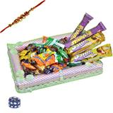 A Trayful Chocolate Hamper with Rakhi