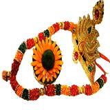 Multicolour  Garland Hamper with Crown and Pooja Modak
