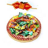 Candy Tray with Ganesh Rakhi