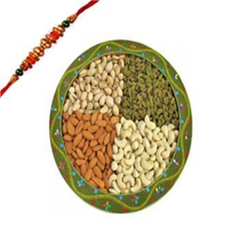 750 Grams Decorated Thali