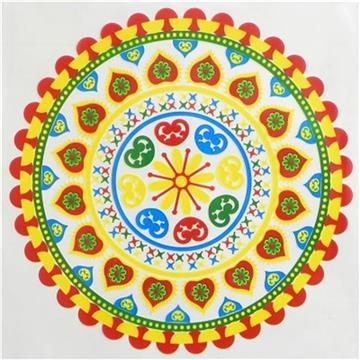 Colorful Alpana