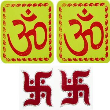 Om and Swastik