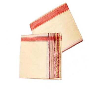 Dhoti with Shawl(Red Border)