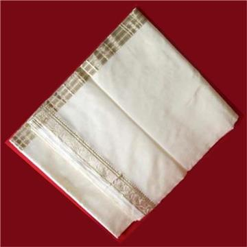 Silk Dhoti White