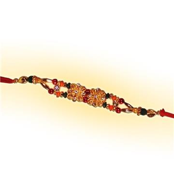Golden Stone Rakhi