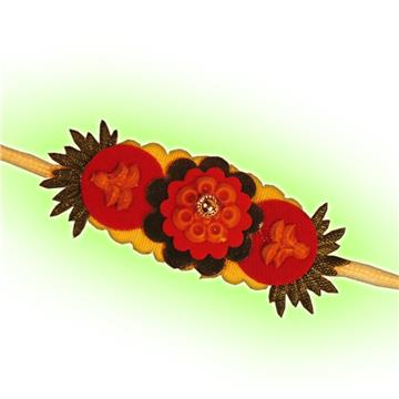 Red Flowery Rakhi
